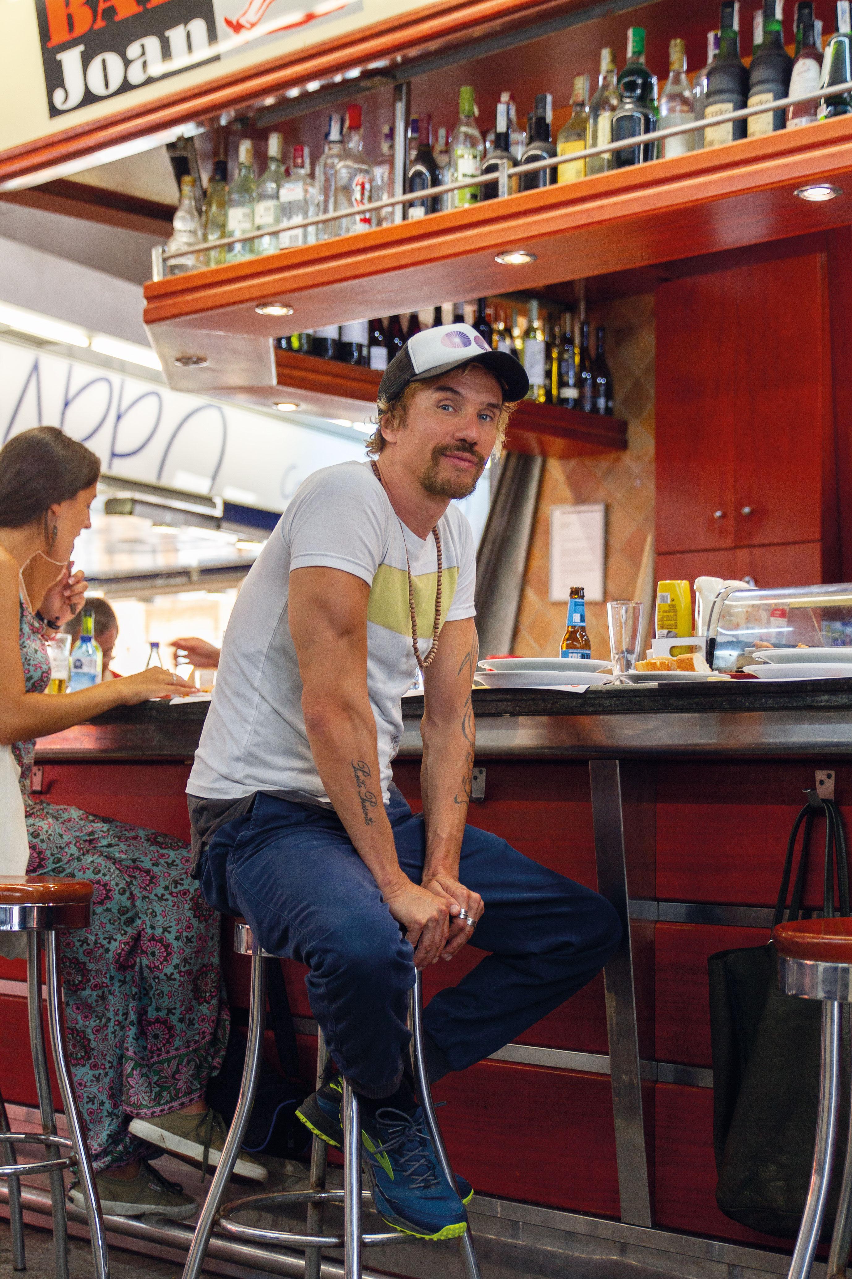 Retrato de Dani Macaco en una entrevista para Flash deco Barcelona