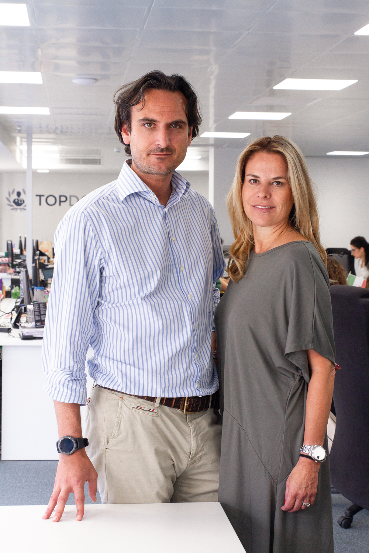 Lorena Bassas y Alberto Porciani de Top doctors para Flash deco Barcelona